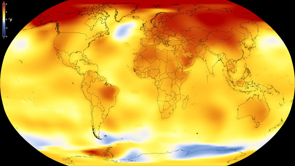 Se mantuvo en 2017 tendencia de calentamiento global de la Tierra: NASA
