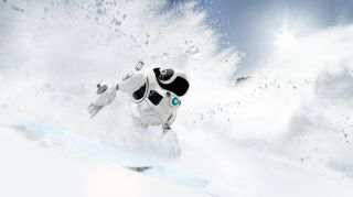Robot skiers hit the slopes in their own Winter Games. Robot skiers hit the slopes in their own Winter Games