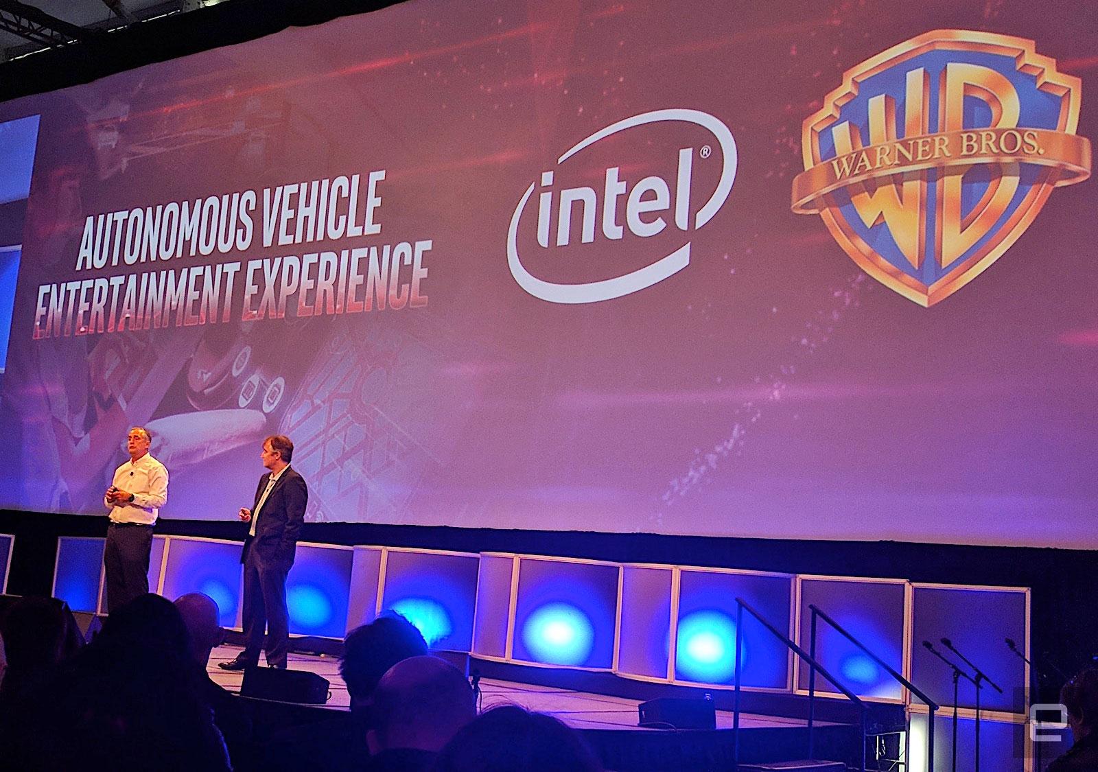 Intel quiere que sus viajes en automóvil autónomos sean más entretenidos. Será lo más cerca que llegarás a conducir el Batmóvil.