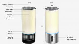 Esta lámpara habilitada para Amazon Alexa podría ser la primera de una ola de nuevos altavoces inteligentes. Amazon Alexa se ilumina con un nuevo diseño