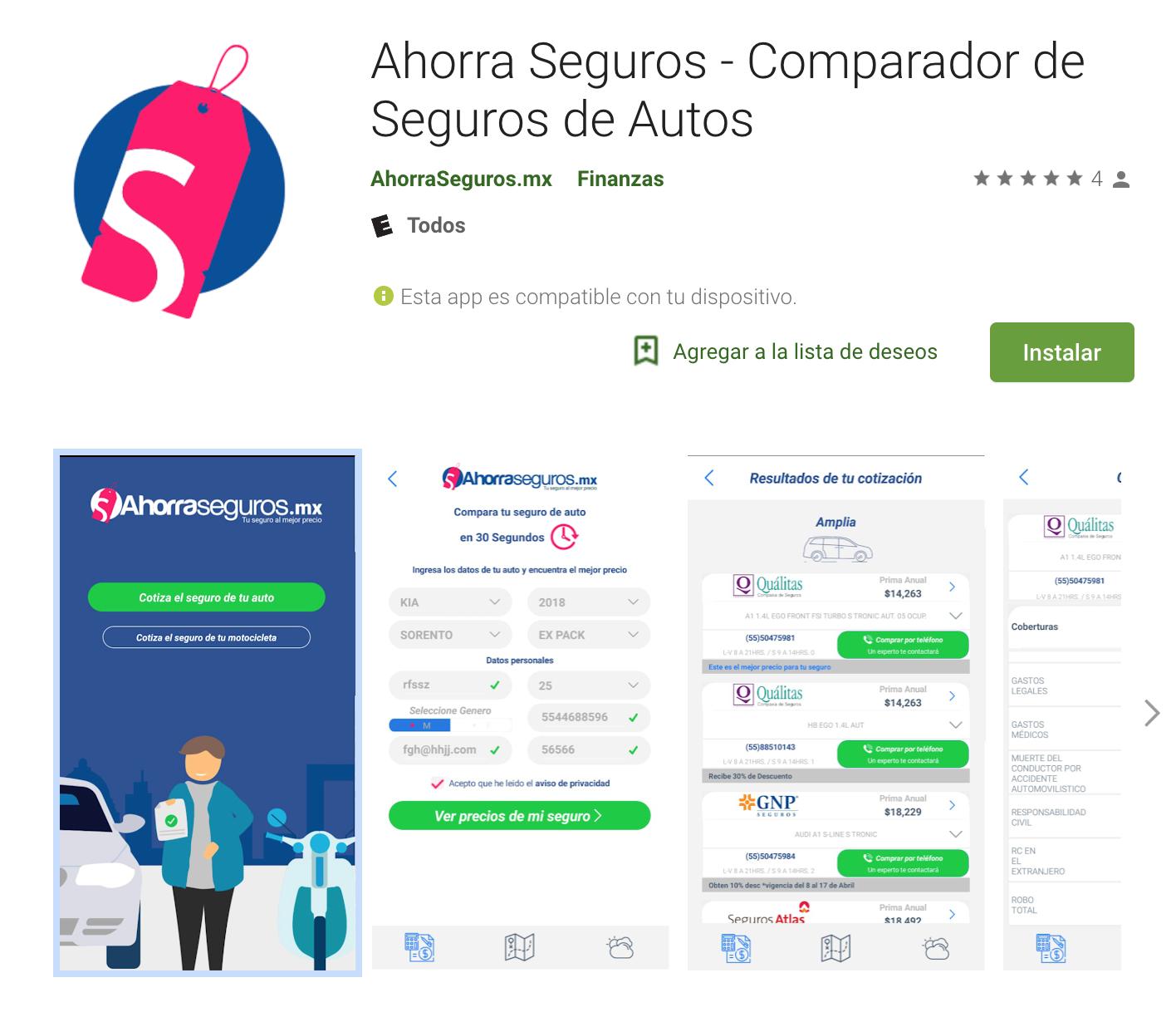 Lanzan App para comparar todos los seguros de autos en Segundos: AhorraSeguros