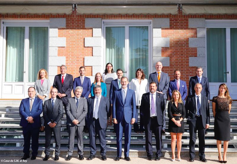 El Rey recibe en audiencia a la Asociación Ferroviaria Española (Mafex) con motivo de su 15º aniversario