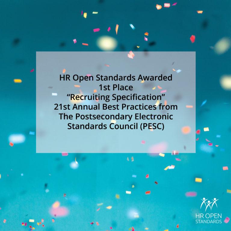 HR Open Standards otorgó el 1er lugar