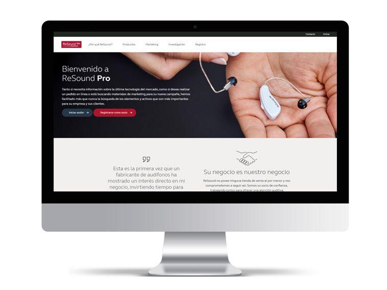 ReSound Pro, todo ReSound en la pantalla del audioprotesista