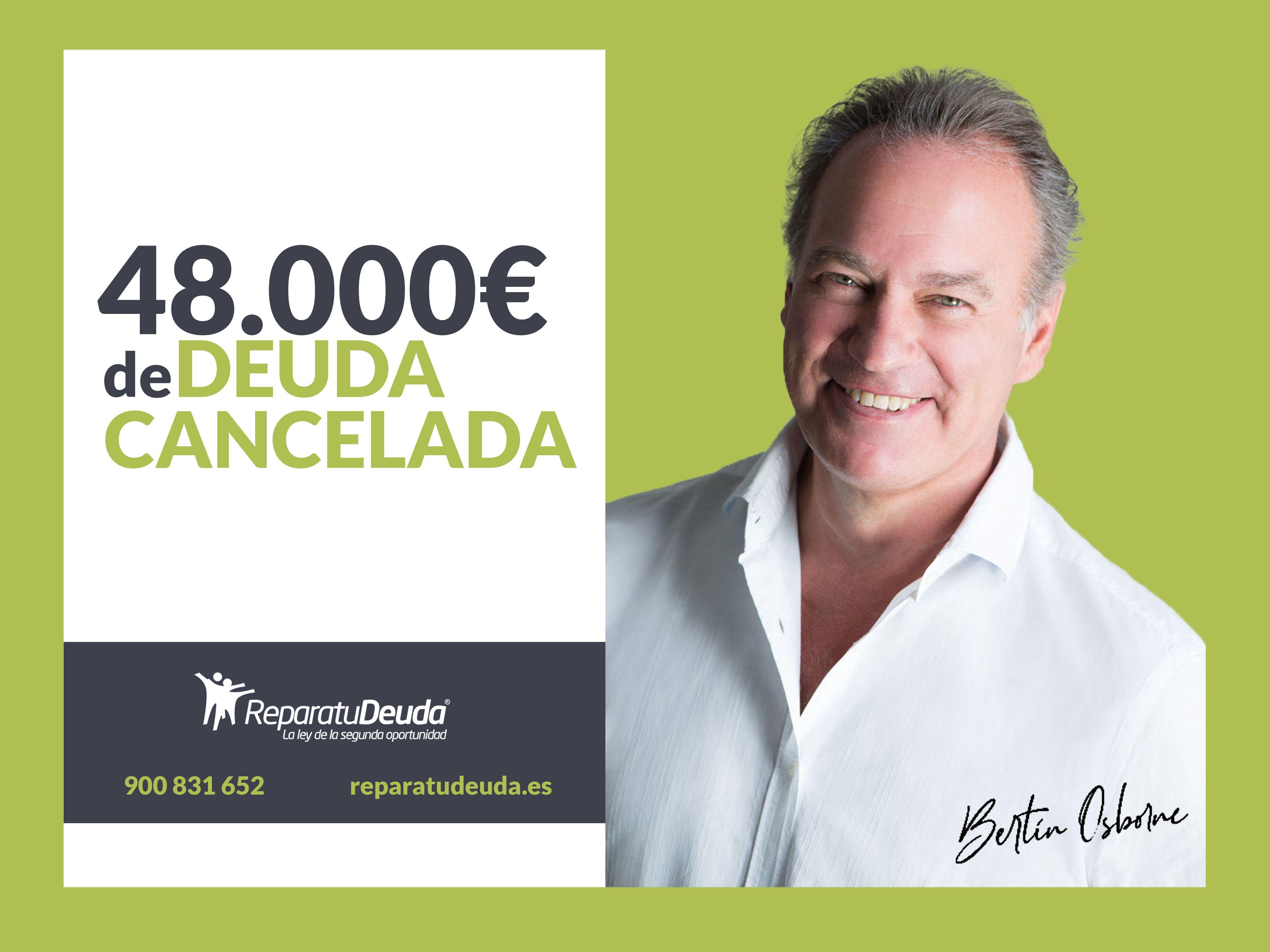 Repara tu Deuda Abogados cancela 48.000 € de deuda privada y pública con la Ley de Segunda Oportunidad