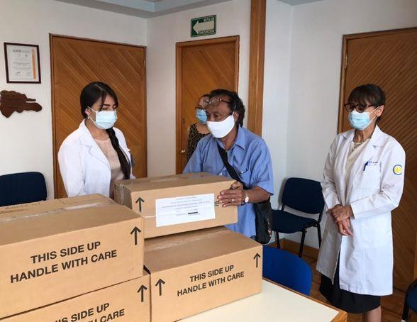 Agentes Aduanales donan 24 ventiladores a la FUNSALUD para salvar vidas del COVID-19