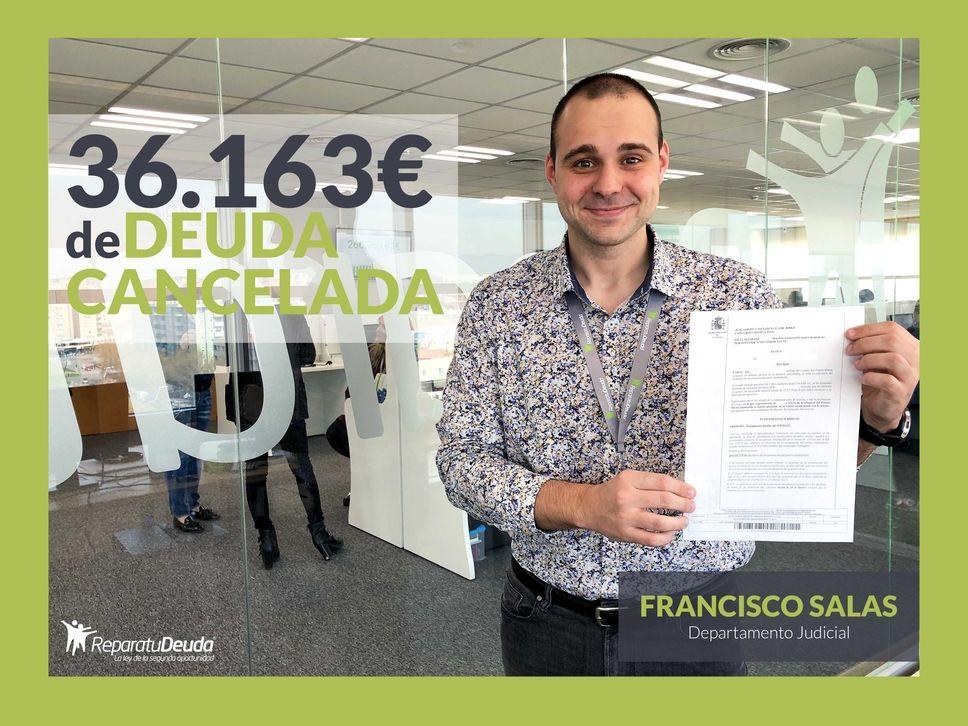 Repara tu Deuda Abogados cancela 36.163 €, con deuda pública, en Madrid con la Ley de Segunda Oportunidad