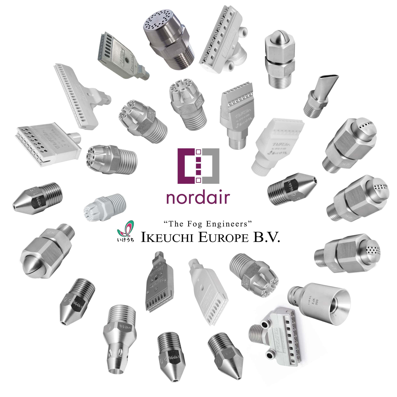 Nordair distribuye en exclusiva las boquillas Ikeuchi en España y Portugal