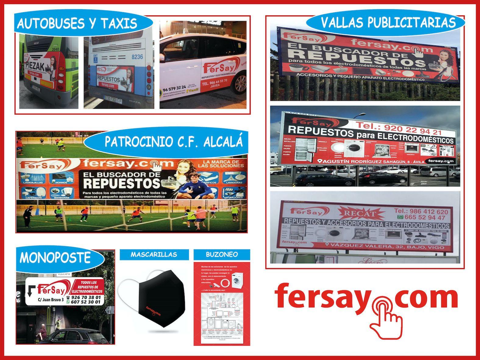 Fuerte campaña de publicidad de  Fersay por toda España