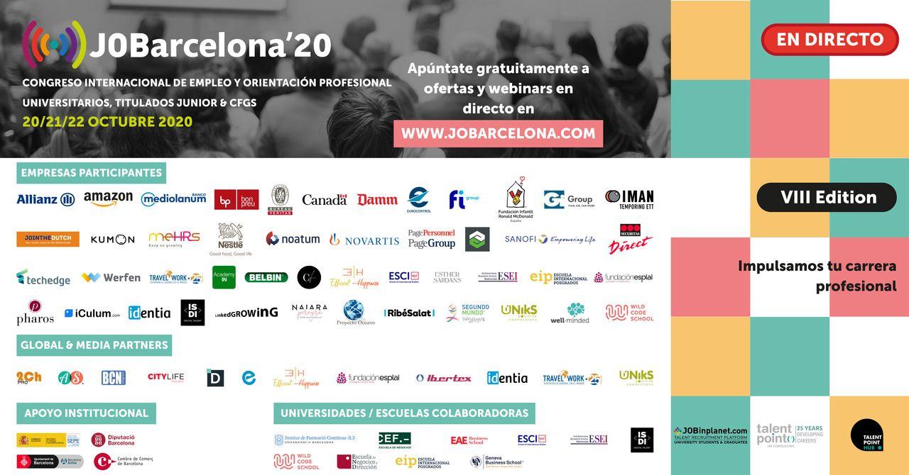 JOBarcelona '20: el evento ideal para participar en caso de buscar trabajo o prácticas