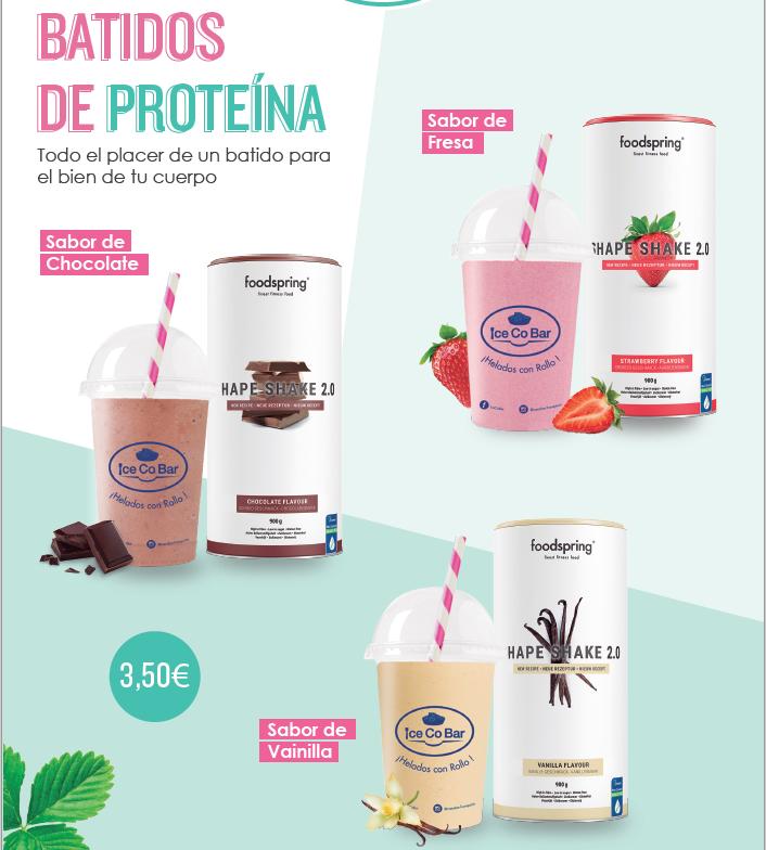 IceCoBar introduce en sus establecimientos los famosos batidos de proteínas FoodSpring