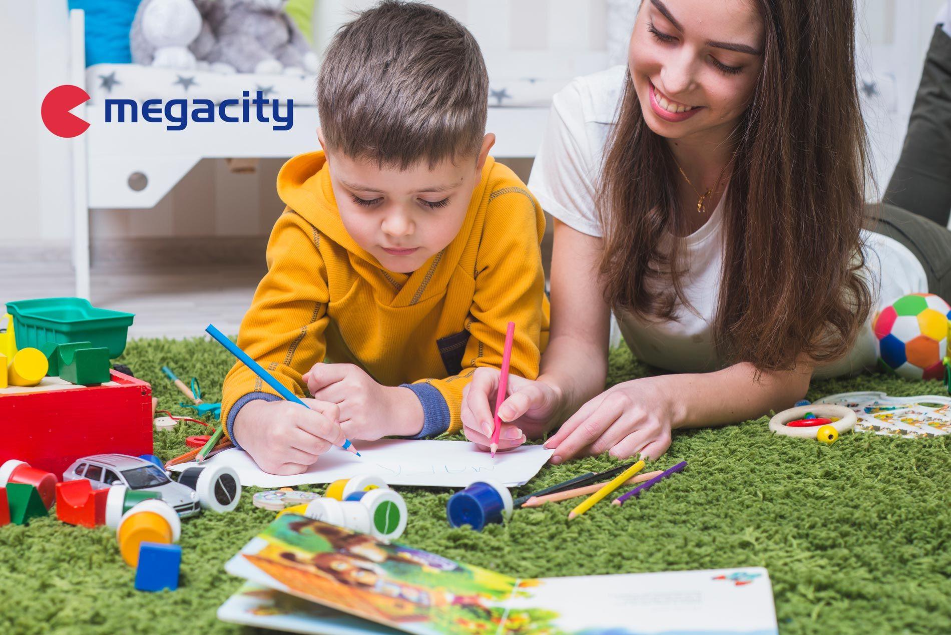 Actividades con material escolar de Megacity para realizar con niños en casa
